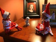 Elf on the Shelf Oreo truffles snowman