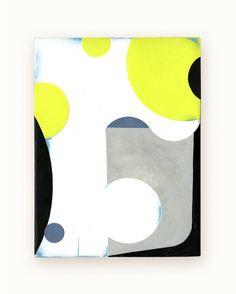 27 / Blazon Series, variation 06 / 2014 / encaustic & alkyd on wood panel  / 8 x 6 inches