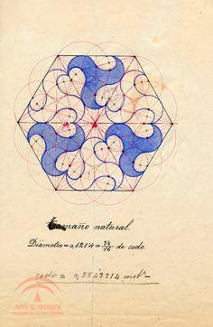 Fliese, geometrische Studie. Alhambra.                                                                                                                                                      Más                                                                                                                                                                                 Más