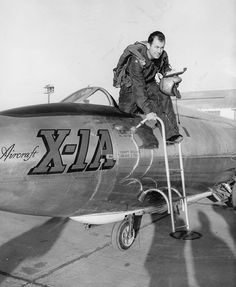 "Chuck Yeager, Legendary Test Pilot ~ read his story in ""The Right Stuff""."