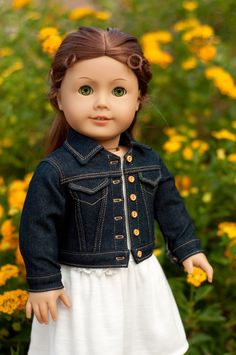 American Girl Doll Denim Jacket lJ pattern used**found at http://www.pixiefaire.com/products/denim-jacket-18-doll-clothes
