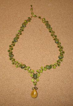 1950's RARE Schreiner of New York Inverted Rhinestone Glass Necklace STUNNING #Schreiner #SEEFULLDESCRIPTION