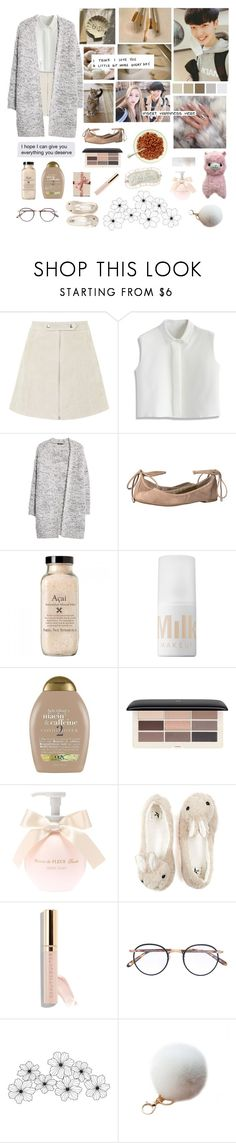 """""""the little things that make me happy"""" by xdayandnightx ❤ liked on Polyvore featuring Topshop, Chicwish, MANGO, 1.State, MILK MAKEUP, Organix, H&M, Garrett Leight, WALL and Tiffany & Co."""