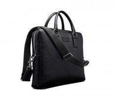 Computer Bag - Black Vachetta leather   Scarosso