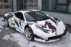 Ferrari 458 Italia Camouflage 1
