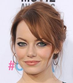 Emma Stone's Messy Low Bun Hairstyle - Casual - Careforhair.co.uk