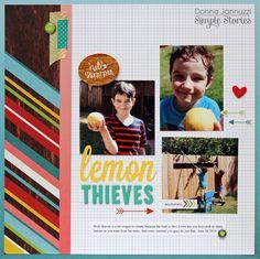 lemon thieves {Simple Stories} - Scrapbook.com