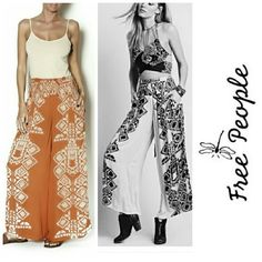 Free People Pants NWT Free People wide leg pants with side slit pockets in orange & cream, so comfy! NWT  ✔Poshmark Compliant Closet No Trades  No Outside Transactions  ❔Please Ask Any Questions BEFORE You Buy   USE THE OFFER BUTTON TO MAKE AN OFFER  Thank you for stopping by!           Happy Poshing! Free People Pants Wide Leg