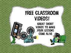 Get about any classroom video you need right here! LOTS to choose from about all classroom subjects!