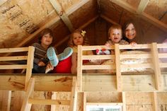 Storage Shed With Playhouse Loft | Dozens of Cousins: The Playhouse