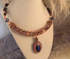 Lapis Lazuli with Cobalt Crystals and Red Tiger Eye in Bright