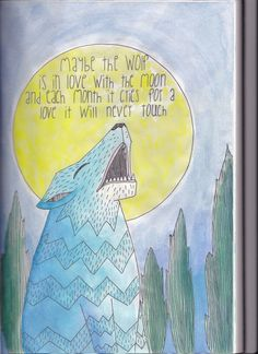 children's art wolf quote illustration
