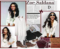 """Fun & Fresh With Zoe Saldaña"" by sherieme ❤ liked on Polyvore"