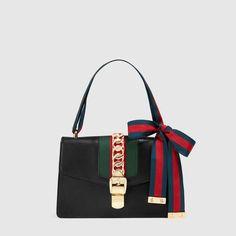 29755dccf Gucci Sylvie leather shoulder bag Gucci Sylvie Bag, Shows, Gucci Shoulder  Bag, Striped
