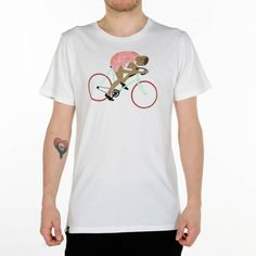 A beautiful variety of cycle-themed clothing from shirts to pajamas