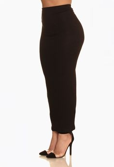 Midi Skirt: Black
