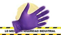 Guante de nitrilo morado Guante de nitrilo quirurgico /  archivo seguridad industrial feryseg sas