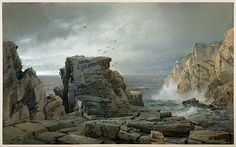 Poster-A Rocky Coast, Creator: William Trost poster sized print mm) made in Australia A4 Poster, Poster Prints, Richard Williams, Hudson River School, Heritage Image, Metropolitan Museum, Photo Mugs, Coastal, Photographic Prints