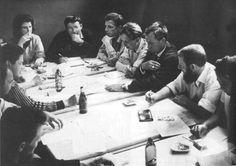looking: Conference of the Situation International at Goteborg, Sweden, 1961. From left to right: J.V. Martin, Heimrad Prem, Ansgar Elde, Jacqueline de Jong, Guy Debord, Attilla Kotyani, Raoul Vaneigem, Jorgen Nash, Dieter Kunzelmann, and Gretel Stadler. @CTSart #art