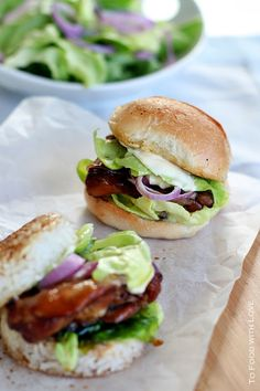 Teriyaki Chicken Rice Burgers (Sliders) from To Food with Love.