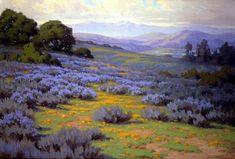 John Gamble, Santa Barbara Landscape  Oil on canvas, 24 x 36; The Irvine Museum - Treasures of California Impressionism