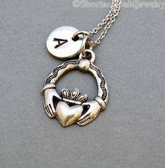 Hey, I found this really awesome Etsy listing at https://www.etsy.com/listing/167724514/claddagh-necklace-irish-love-symbol