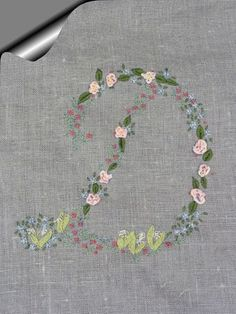 Embroidery letter D
