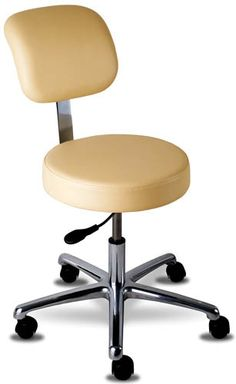 Techno-Aide - BPS-32 - Pneumatic Lift Stool With Backrest W/Locking Casters