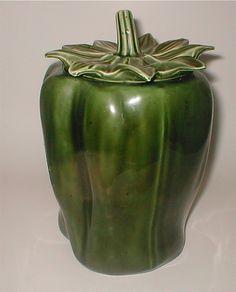 Vintage McCoy Green Pepper Cookie Jar Marked by studiostebbylee