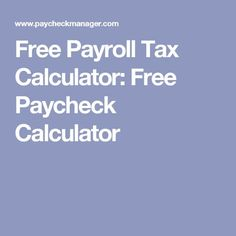 pay stub taxes calculator