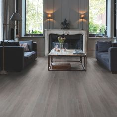 Quick-Step Paso Dark Grey Oak Effect Waterproof Luxury Vinyl Flooring Tile 2.105 m² Pack | Departments | DIY at B&Q