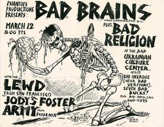 bad brains, bad religion show poster