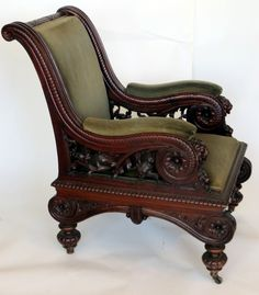 Exceptional Victorian Carved Arm Chair
