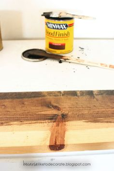 DIY Rustic Headboard Tutorial - Because I Like To Decorate Rustic Headboard Diy, Diy Headboards, Cinderblock Planter, Bookcase Headboard, Modern Bookcase, Rustic Wood, Bamboo Cutting Board, Painted Furniture, Bedroom