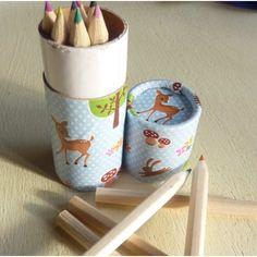 Colouring pencil tube - woodland