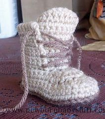 Crochet Baby Booties LiL' Man Work Boots pattern by Hook N' Knit Designs