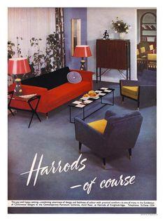 Harrods Furniture Interiors 1950s