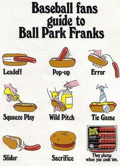 Vintage Ad #780: Baseball Fans Guide to Ball Park Franks | by jbcurio