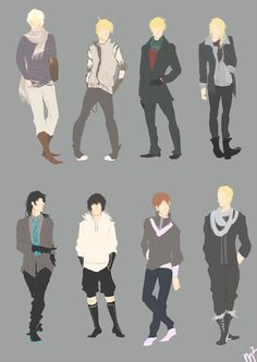 ((Let's just have a bunch of very cool minimalist Hetalia, yes.))