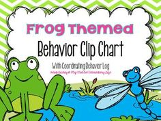 UPDATED: 8-5-13: There was an error on the behavior log. This error has been fixed. Please redownload for the updated file. This Frog themed clip chart set is ready to be used by all your little froggies in your classroom. In addition to the 7 different clip cards, this set also includes a coordinating behavior log you can use to help communicate with parents about their child's behavior in the classroom.