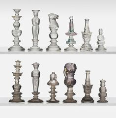 Glass chess pieces (