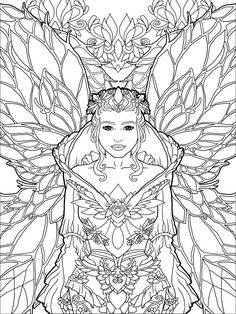 Magical Unicorns and Fairies: Adult Coloring by lightburstmedia