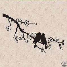 Dove-Birds-On-A-Branch-B-Vinyl-Wall-Art-Decal-Sticker