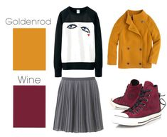 I like the colors... Not the outfit... - Goldenrod & Wine | 26 Essential Fall Color Palettes You Need To Try