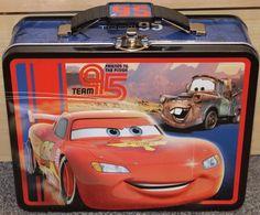 CARS Disney Pixar Tin Lunch Box - New - School - carrying case- children's -blue