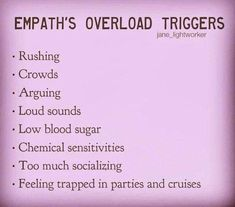 Crowds, feeling trapped, too much socializing, loud sounds. Empath Traits, Intuitive Empath, Psychic Empath, Empath Abilities, Psychic Abilities, Highly Sensitive Person, Sensitive People, Infp, Reiki