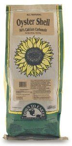 Down To Earth 100% Natural Oyster Shell Flour Soil Conditioner - 25 lb 04571 by Down To Earth. $20.82. From the Manufacturer                A high quality soil conditioner which consists of 96% calcium carbonate and many micronutrients, Oyster Shell provides a long-lasting, steady release of nutrients to help regulate pH levels, improve fertilizer uptake, promote healthy cellular structure and enhance soil tilth. Oyster Shell is also helpful in creating more active habitats...