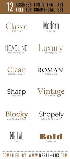 Fonts: I think most of these are good examples of fonts. I think it's i… Fonts: I think most of these are good examples of fonts. I think it's important to pick a font that goes with the yearbook theme. Design Fonte, Graphisches Design, Design Logo, Graphic Design Tips, Graphic Design Inspiration, Design Ideas, Luxury Logo Design, Vector Design, Logos Online