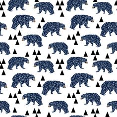 ©  Copyright  Andrea Lauren -  You are permitted to sell items you make with this fabric, but request you credit Andrea Lauren as the designer. View the Entire Camping Bear Collection  Contact me for scale, color changes and/or licensing: andrealaurendesign@gmail.com