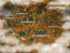 Autumn Vale High Elven city occupied by Drow and stuck in eternal Autumn Made with Inkarnate : dndmaps Elven city Elven Dungeons and dragons homebrew